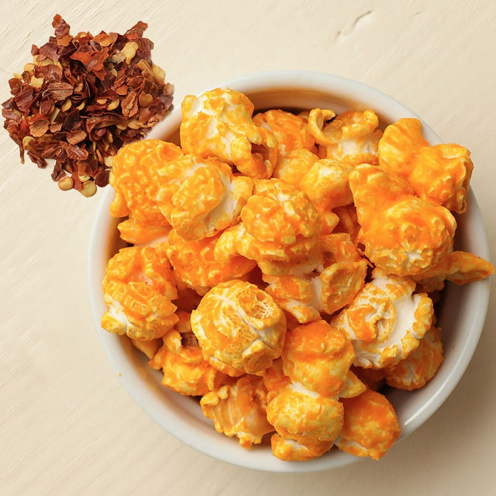 Absurdly Spiked Cheddar Popcorn